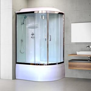 Душевая кабина Royal Bath BK6 120х80х217 стекло белое/прозрачное, левая (RB8120BK6-WT-CH-L)