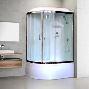 Душевая кабина Royal Bath BK6 120х80х217 стекло белое/прозрачное, правая (RB8120BK6-WT-CH-R)