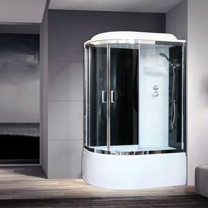 Душевая кабина Royal Bath BK6 120х80х217 стекло черное/прозрачное, правая (RB8120BK6-BT-CH-R)