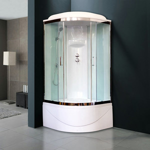 Душевая кабина Royal Bath BK6 90х90х217 стекло белое/прозрачное (RB90BK6-WT-CH) душевая кабина royal bath bk2 90х90х217 стекло прозрачное rb90bk2 t ch