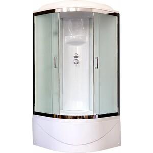 Душевая кабина Royal Bath BK6 90х90х217 стекло белое/шиншилла (RB90BK6-WC-CH) душевая кабина royal bath bk2 90х90х217 стекло прозрачное rb90bk2 t ch