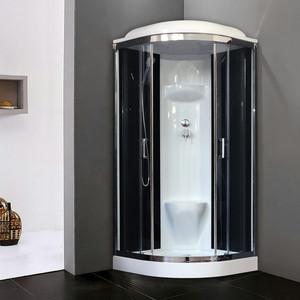 Душевая кабина Royal Bath HK6 100х100х217 стекло черное/прозрачное (RB100HK6-BT-CH)