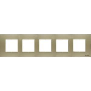 Рамка ABB 5-постовая 10мод. Zenit шампань (N2275 CV)