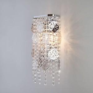 Настенный светильник Eurosvet 10083/2 хром/прозрачный хрусталь Strotskis цена