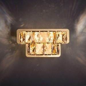 Настенный светодиодный светильник Eurosvet 90059/2 золото цена