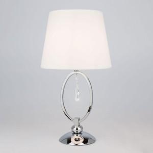 Настольная лампа Eurosvet 01055/1 хром/прозрачный хрусталь Strotskis настольная лампа eurosvet 10054 1 белый с золотом прозрачный хрусталь strotskis amelia