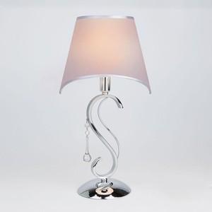 Настольная лампа Eurosvet 01053/1 хром/прозрачный хрусталь Strotskis