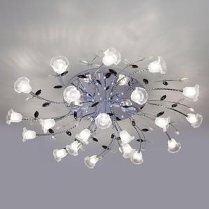 Потолочная светодиодная люстра Eurosvet 80114/21 хром/белый