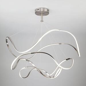 Подвесной светодиодный светильник Eurosvet 90109/3 сатин-никель люстра eurosvet filmy 90109 3 сатин никель 150w