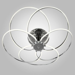 Потолочный светодиодный светильник Eurosvet 90039/5 хром