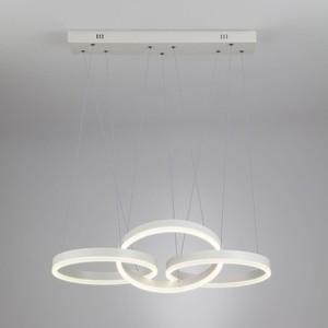 Подвесной светодиодный светильник Eurosvet 90070/3 белый подвесной светодиодный светильник eurosvet cant 50154 1 led белый