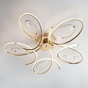Потолочный светодиодный светильник Eurosvet 90099/5 золото потолочный светодиодный светильник eurosvet 90041 6 золото