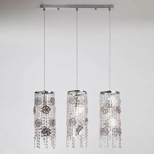 Подвесной светильник Eurosvet 10083/3 хром/прозрачный хрусталь Strotskis