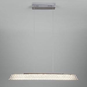 Подвесной светодиодный светильник Eurosvet 90075/1 хром подвесной светодиодный светильник eurosvet 90033 1 хром