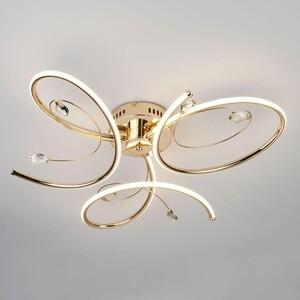Потолочный светодиодный светильник Eurosvet 90099/3 золото потолочный светодиодный светильник eurosvet 90041 6 золото