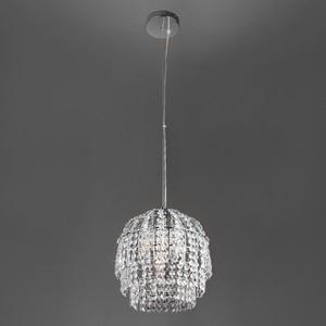 цена на Подвесной светильник Eurosvet 10091/1 хром/прозрачный хрусталь Strotskis