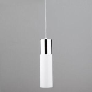 Подвесной светильник Eurosvet 50135/1 LED хром/белый накладной светильник eurosvet sandy 40014 1 led кофе