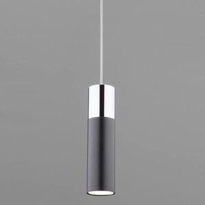 Подвесной светильник Eurosvet 50135/1 LED хром/черный накладной светильник eurosvet sandy 40014 1 led кофе