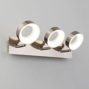 Светодиодный спот Eurosvet 20065/3 сатин-никель люстра eurosvet filmy 90109 3 сатин никель 150w