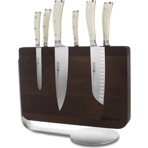 Набор кухонных ножей 7 предметов Wuesthof Ikon Cream White (9884-0)