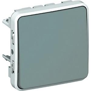 Переключатель одноклавишный Legrand СП на 2 направления PLEXO IP55 серый (069511) коробка распределительная legrand plexo 40х40х60 мм цвет серый ip55