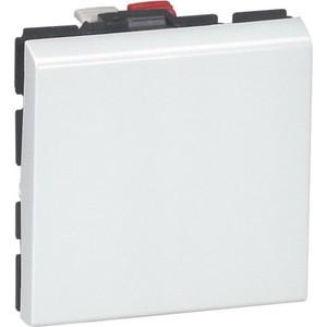 Переключатель одноклавишный Legrand СП Mosaic NEW 2 модуля белый (077011) цены