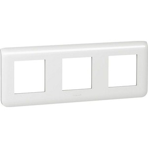 Рамка Legrand 3хна 2 модуля Mosaic New горизонтальная белая (078806) цена в Москве и Питере