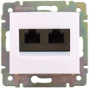 Розетка информационная Legrand двойная СП Valena RJ45 + RJ45 CAT.5 Е UTP белая (774231) retractable cat 5 male to male rj45 ethernet lan cable blue 2 3m