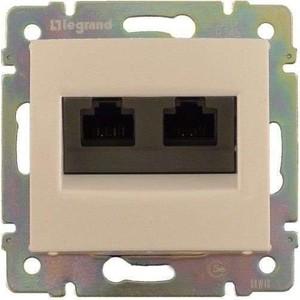 Фото - Розетка информационная Legrand двойная СП Valena RJ45 + RJ45 5 Е UTP слоновая кость (774131) rj45 network retractable cable 2 5 meter