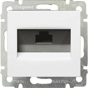 Розетка компьютерная Legrand СП Valena RJ45 белая (DIY - упак.) (694286)