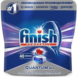 Таблетки для посудомоечной машины (ПММ) Finish Quantum Max 40 шт таблетки для пмм finish quantum max лимон 54 шт