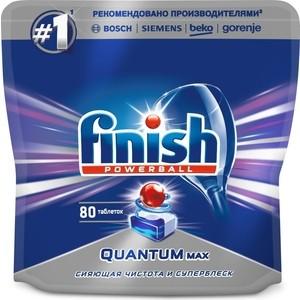 Таблетки для посудомоечной машины (ПММ) Finish Quantum Max 80 шт таблетки для пмм finish quantum max лимон 54 шт