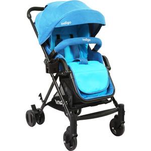 Коляска прогулочная Indigo ALFA синий (УТ0010141) коляска прогулочная tutis mimi style 2 в 1 цвет деним синий