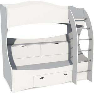 Кровать двухъярусная Сильва НМ 011.74 прованс белый