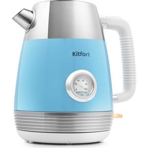Чайник электрический KITFORT KT-633-4, голубой