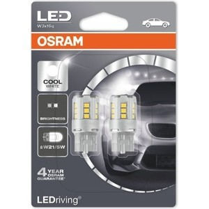 Светодиодные лампы Osram W21/5W LEDRIVING 6000K 12V Cool White Standard, 2 шт, 7716CW-02B topledlight customize 100w cree xlamp xpe xp e cool white 6000k 9600lm dc30 35v 3000ma high power led emitter lamp lightings