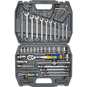 Фото - Набор инструментов Kraft 1/2 Dr и 1/4 Dr 77 предметов (KT 700304) набор головок дело техники с комбинированными ключами 1 4 1 2 77 предметов 620777