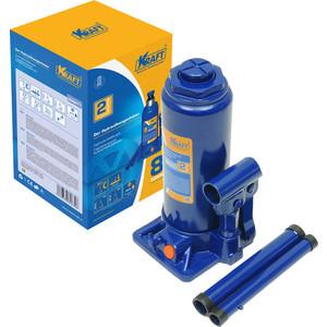Домкрат бутылочный гидравлический Kraft 8т 230-465мм (KT 800017) домкрат гидравлический бутылочный matrix 8т 230 457мм master 50723