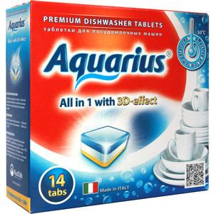 Таблетки для посудомоечной машины (ПММ) Aquarius All in 1, 14 шт