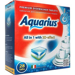 Таблетки для посудомоечной машины (ПММ) Aquarius All in 1, 28 шт