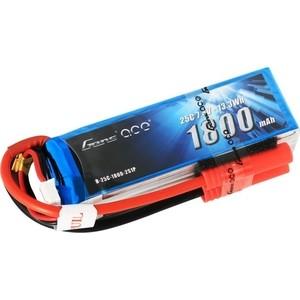 Аккумулятор Gens Ace Li-Po - 7.4В 1800мАч 25C (2S1P) - B25C18-2S аккумулятор traxxas li po 7 4в 2s 25c 3300мач