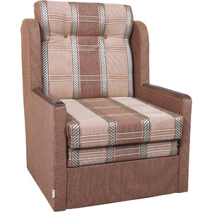 цена Кресло-кровать Шарм-Дизайн Классика Д шенилл светло коричневый онлайн в 2017 году