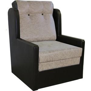 Кресло-кровать Шарм-Дизайн Классика Д замша коричневый
