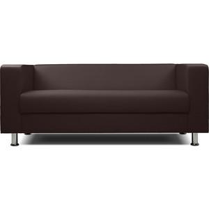 цена на Диван офисный Шарм-Дизайн БИТ экокожа коричневый 3-х местный