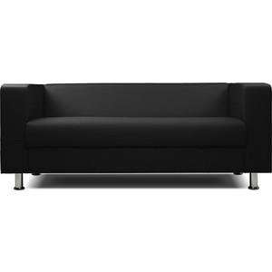 цена на Диван офисный Шарм-Дизайн БИТ экокожа черный 3-х местный