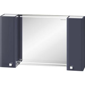 цены Зеркало-шкаф Edelform Нота 103,1x63 с подсветкой, серый (35690)