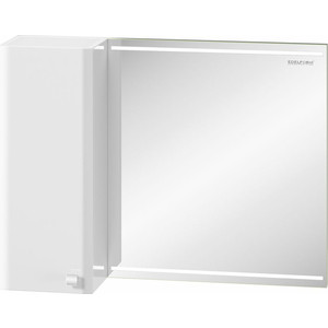 Зеркало-шкаф Edelform Нота 83x63 с подсветкой, белый (35809) фото