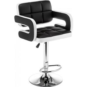 Барный стул Woodville Bent черный/белый