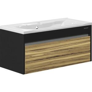 лучшая цена Тумба с раковиной Edelform Карино 100x44,7 черный эбони (1-747-43-PR100, 10.010.01000.001)