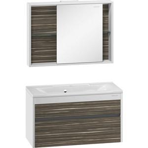 Мебель для ванной Edelform Белль 100 белый макассар